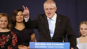 Scott Morrison has defied the polls to clinch his party a third term. (Photo / AP)