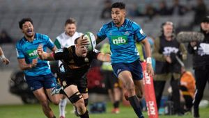 Blues winger Rieko Ioane in action against the Chiefs. (Photo / Photosport)