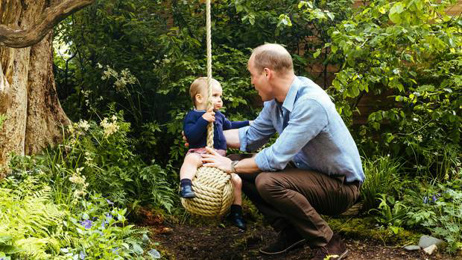 Prince Louis takes first steps on camera