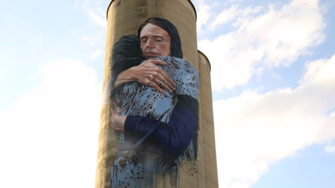The Jacinda Ardern mural in Northern Melbourne. (Photo / Supplied)
