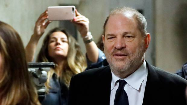 Harvey Weinstein leaves State Supreme Court in New York for a lunch break on April 26, 2019. (Photo / AP)