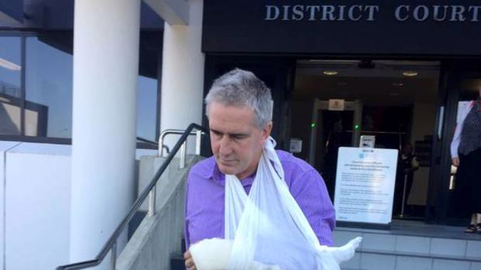 Johnathan Coombe, of Waharoa, leaves the Hamilton District Court after an earlier appearance. (Photo / File)