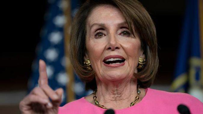 Nancy Pelosi said she is praying for the President. Photo / AP