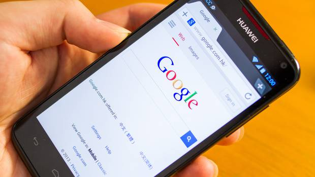 A Huawei phone running Google's Android software. Photo / Getty Images