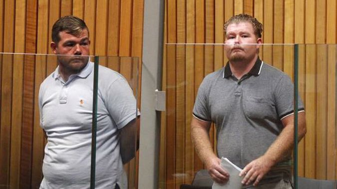 British men Patrick (left) and Johnny Quinn pleaded guilty to being part of a roofing scam. Photos / Stuart Munro