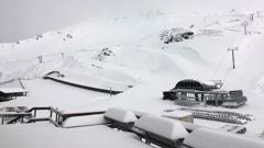 Snow on Mt Hutt in February this year. This weekend's cold blast is expected to bring another big dump. Photo / Supplied