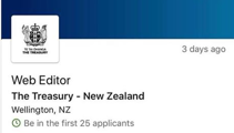 Bad timing: Treasury looking for new web editor