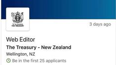 Treasury looking for web editor same week as Budget hack
