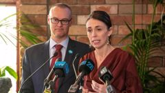 Prime Minister Jacinda Ardern and Health Minister David Clark respond to the mental health inquiry yesterday. (Photo / Mark Mitchell)