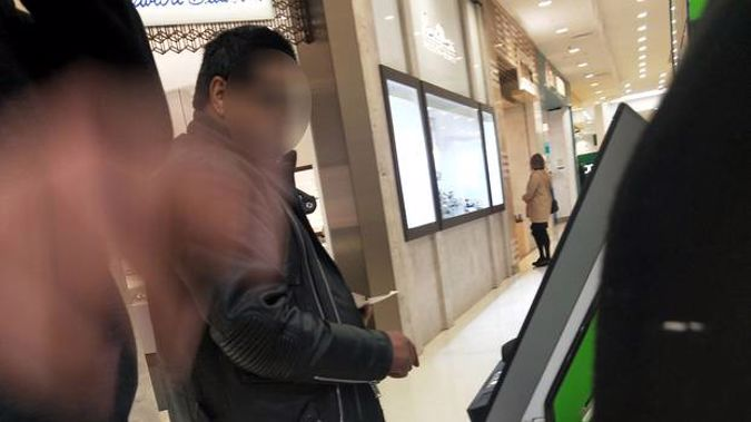 The family took this picture of the man, who they said racially abuse them during a shopping trip to Lynnmall. (Photograph / Supplied)