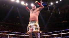 Andy Ruiz Jr celebrates beating Anthony Joshua. Photo / Getty