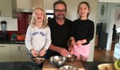 Mike makes the tasty treat with his family. (Photo / Supplied)