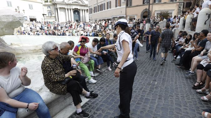 Tourists to Italy's capital will now have to be on their best behaviour. (Photo / AP)