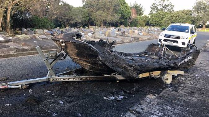 Despite the severe damage the registration was still visible so the owner could be tracked down. Photo / Supplied