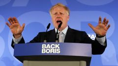 Johnson has come under fire from his fellow contenders but remains the favourite. (Photo / AP)
