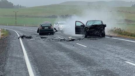 Serious crash closes SH1 near Waiouru