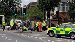 The incident took place as the Duke and Duchess of Cambridge were heading from London to Windsor. It is believed to have involved one of their police motorcycle outriders.