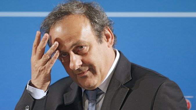 Michel Platini, pictured here in 2014, has been arrested over his role. (Photo / AP)