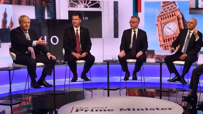 The four remaining candidates in the fight to be the UK's Prime Minister. (Photo / Getty)