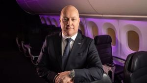 Air New Zealand chief executive Christopher Luxon is leaving the airline in September and has hinted at a future in politics with the National Party. (Photo / Greg Bowker)