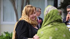 Christchurch member of parliament Megan Woods meets with members of the Muslim community in the wake of the March 15 terror attacks.