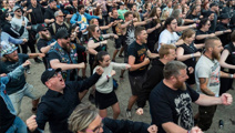 6000 Danish heavy metal fans perform haka for Kiwi band