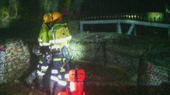 A Pike River Mine recovery workers broke through the seal for the first time last month. Photo / FRG
