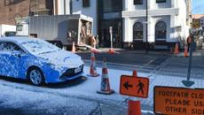 Extremely localised snow hits Dunedin