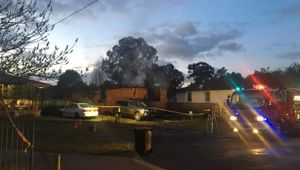 A woman, 31, and boy, eight, were treated at the scene and transferred to hospital. Photo / News Corp Australia
