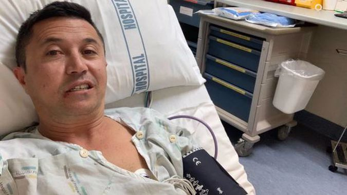 Mike Puru is in hospital after crashing his bike on the way home from work on Thursday. Photo / Supplied