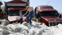 Freak summer hailstorm buries Mexican city under five feet of ice