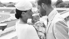 Modernity meets tradition as Prince Harry and Meghan show their son Archie
