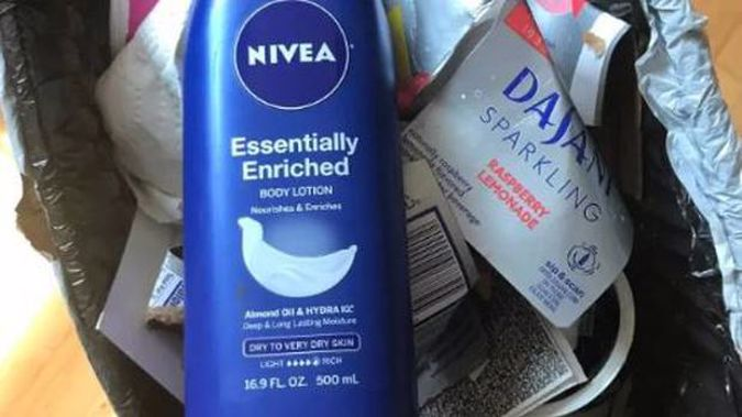 People are throwing their Nivea products in the bin. (Photo / Twitter)