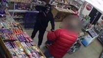 CCTV footage shows dairy owner fighting off robber