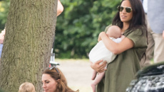 Baby Archie makes first public appearance at trip to polo match with mum Meghan