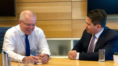 Simon Bridges meets with Australian Prime Minister Scott Morrison