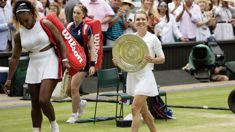 Serena Williams defeated by Simona Halep in Wimbledon finals