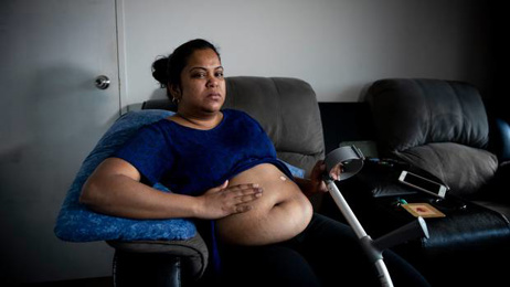 Auckland woman with distended stomach pleads for help to end agony