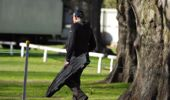 Canterbury gun owners arrived at Riccarton Racecourse yesterday morning. (Photo / RNZ)