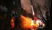 The 110-year-old building was destroyed in a fire on Friday. (Photo / FENZ)