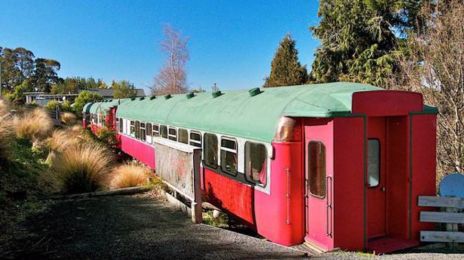 Two converted railways carriages, sleeping up to six people each, in Ōhakune Junction are for sale for $265,000 plus GST. Photo / Supplied