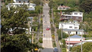 Baldwin Street lost its title of world's steepest street this morning. (Photo / NZPA)