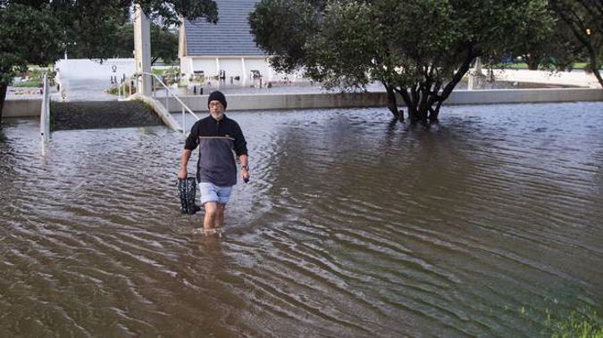 Tamaki Makaurau Tumahai after flooding at the Okahu Bay church and urupā in 2017. Coastal Māori communities will be hit hard by climate change impacts. Photo / File
