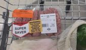 Stickers like these have been appearing on beef and lamb in supermarkets.