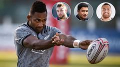 Sevu Reece, Braydon Ennor, Josh Ioane, and Atu Moli are amongst the new All Blacks. (Photos / Getty Images, Photosport)