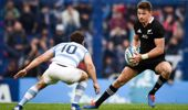 Beauden Barrett cut through the Argentinean defence a number of times. (Photo / Getty)