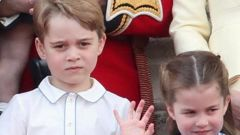 Prince George stood stoic beside sister Princess Charlotte during the Trooping the Colour, in June this year. (Photo / Getty Images)