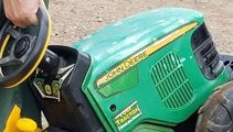 Toddler escaped to local fair on toy tractor