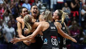 The Silver Ferns celebrate winning the Netball World Cup. Photo /Getty