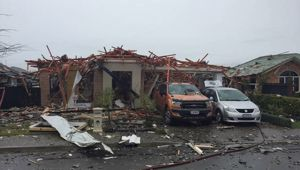 The house in Marble Court in Christchurch was destroyed by the explosion. (Photo / NZ Herald)